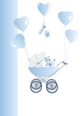 Babycard blue Stock Vector - 12137305