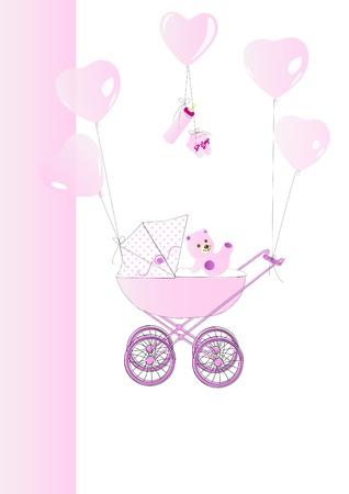 happening: Babycard pink