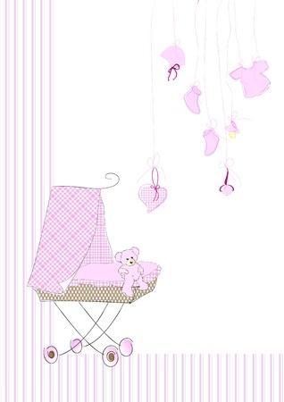 Cradle in pink Vector