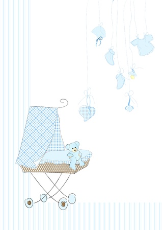 Cradle in blue Vector