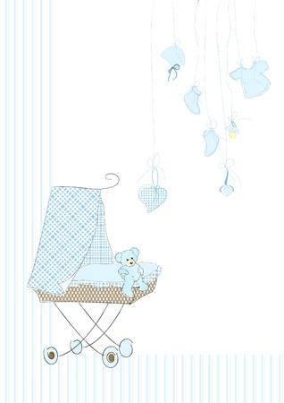Cradle in blue Stock Vector - 12137327
