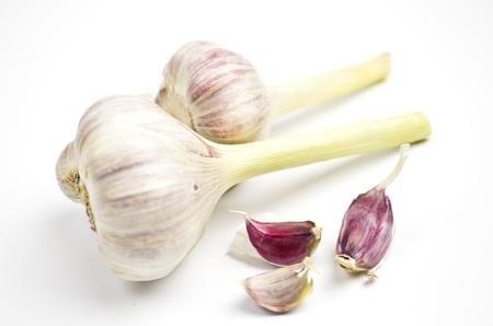 Garlic on white Stock Photo - 13531000