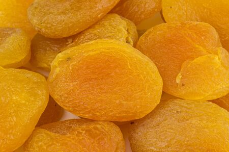 Heap of dried apricots photo