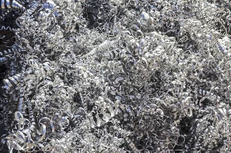 swarf: Heap of aluminum swarfs  Stock Photo