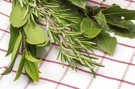 Bay leaf and rosmary