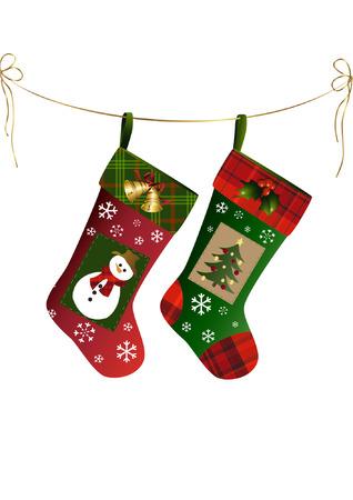 botas de navidad: Dos medias de Navidad