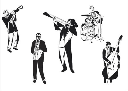 percussionist: Jazz abstract Illustration