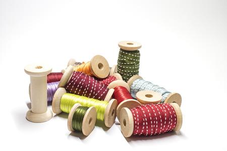 Several sorts of ribbons Stock Photo