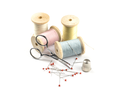 Sewing threads in pastel