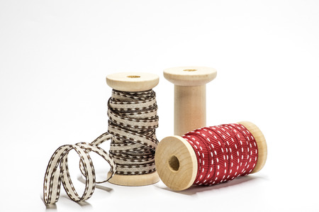 Spools with ribbons
