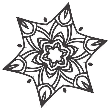 Ethnic Fractal Mandala Floral Doodle Pattern
