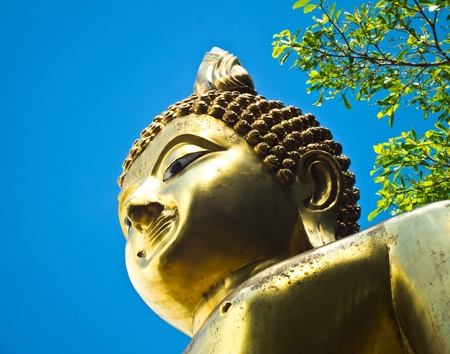 Statue golden buddha Stock Photo