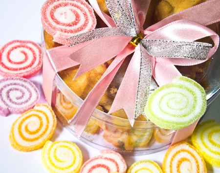 Colorful candy and cookie