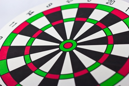 taget: Dart board with darts on white background Stock Photo
