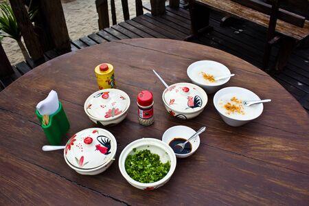 Traditional chinese porridge rice gruel in bowl, congee  photo