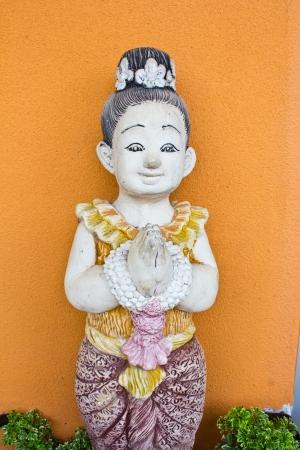handscraft: Thai ancient stone carving greet