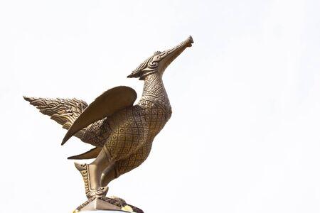 Statue thai style golden bird photo