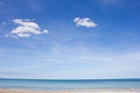 Beautiful blue sky over the sea at khanom bay photo
