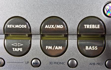 detail of hi-fi control panel photo