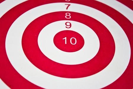 Red target dart board photo