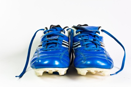 soccer cleats: Football shoes isolated on the white background