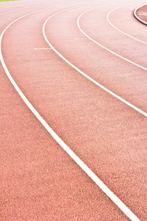 Athletics Stadium Running track rubber standard red color photo