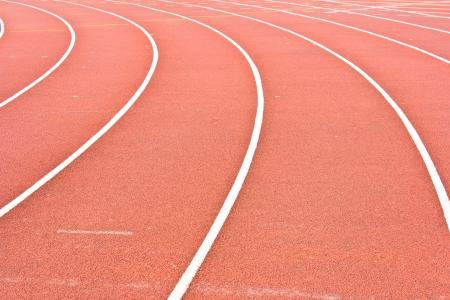 Athletics Stadium Running track rubber standard red color photo