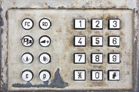 teclado numerico: Metal viejo teclado numérico