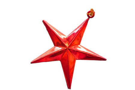 trumpery: Merry Christmas and Happy New Year,Red Star Stock Photo