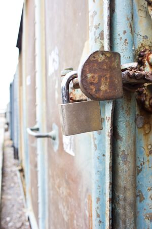 Master key lock for the door of train Stock Photo - 17094165