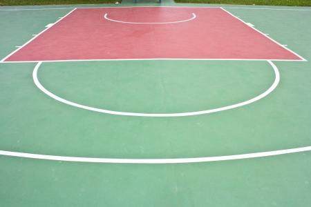 playground basketball: Outdoor basketball court Stock Photo
