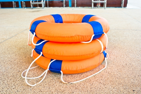 Life preserver floating Stock Photo - 17776949