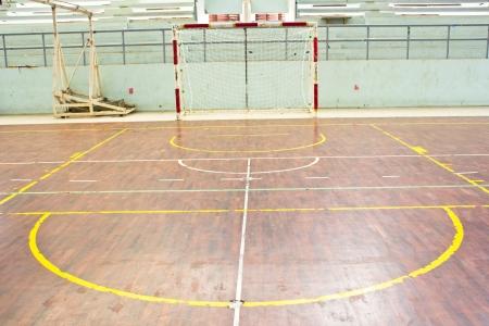 alt Fußballtor indoor im Stadion