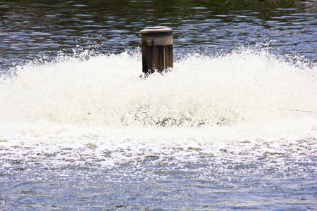 water treatment by aerator photo