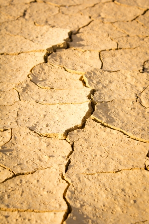Close up  dry cracked ground .Dry soil in arid photo