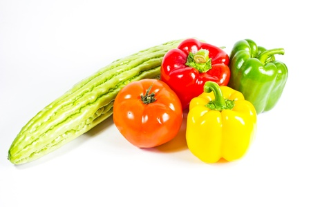 fresh vegetable isolated on white background photo