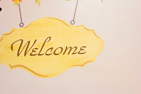 cordiality: Welcome sign on the wall