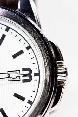 Close up watch on white background Stock Photo - 20785195