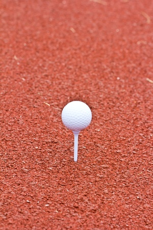 Close up golf ball on  the tee golf photo
