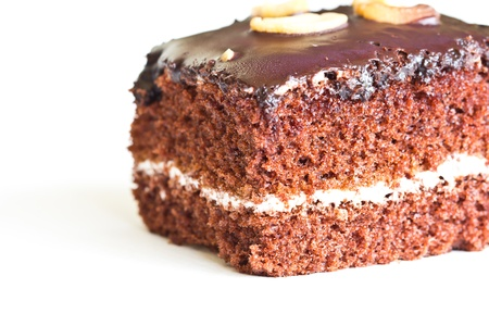Frosted chocolate brownie  Banco de Imagens
