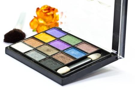 Make-up collage on white background Stock Photo - 22173965