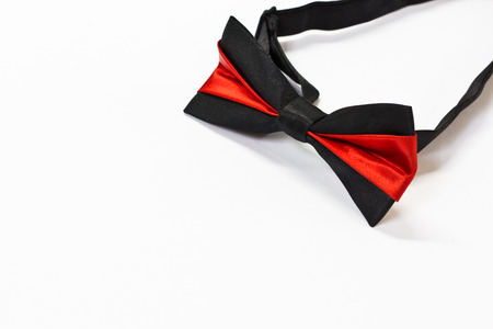 bow tie isolated on white background photo