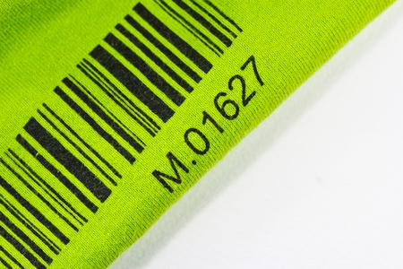 bar code printed  a green on my cloth