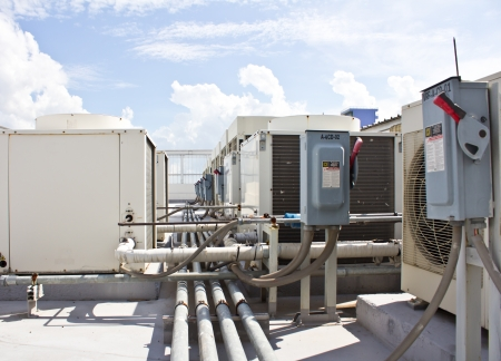 Outdoor Unit of Air Conditioning Compressor photo