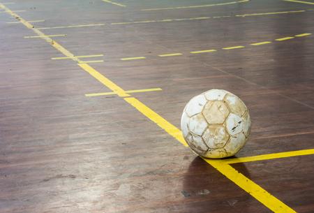 futsal: old futsal court indoor sport stadium