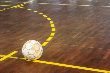 indoor soccer: old futsal court indoor sport stadium