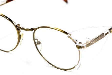 Vintage round eyeglasses isolated on white