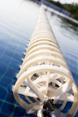 Cordas da pista na piscina Banco de Imagens