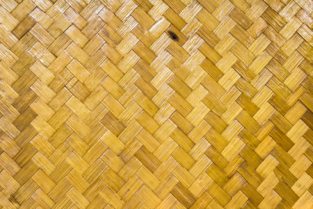 Bamboo woven wooden texture surface top view photo