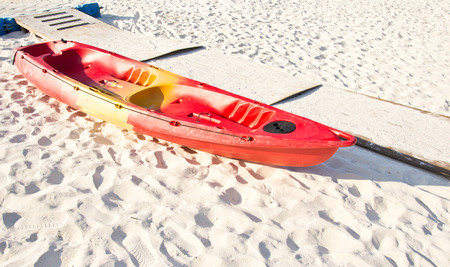 kayak on the beach photo